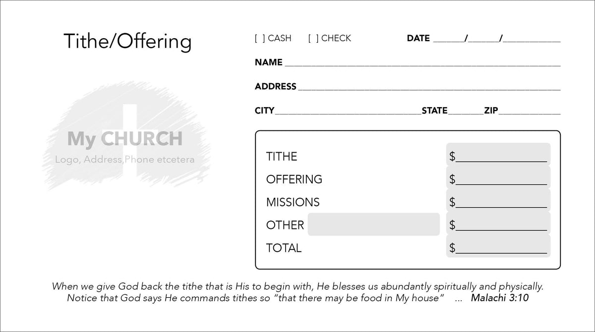 Tithe Envelope Template 04