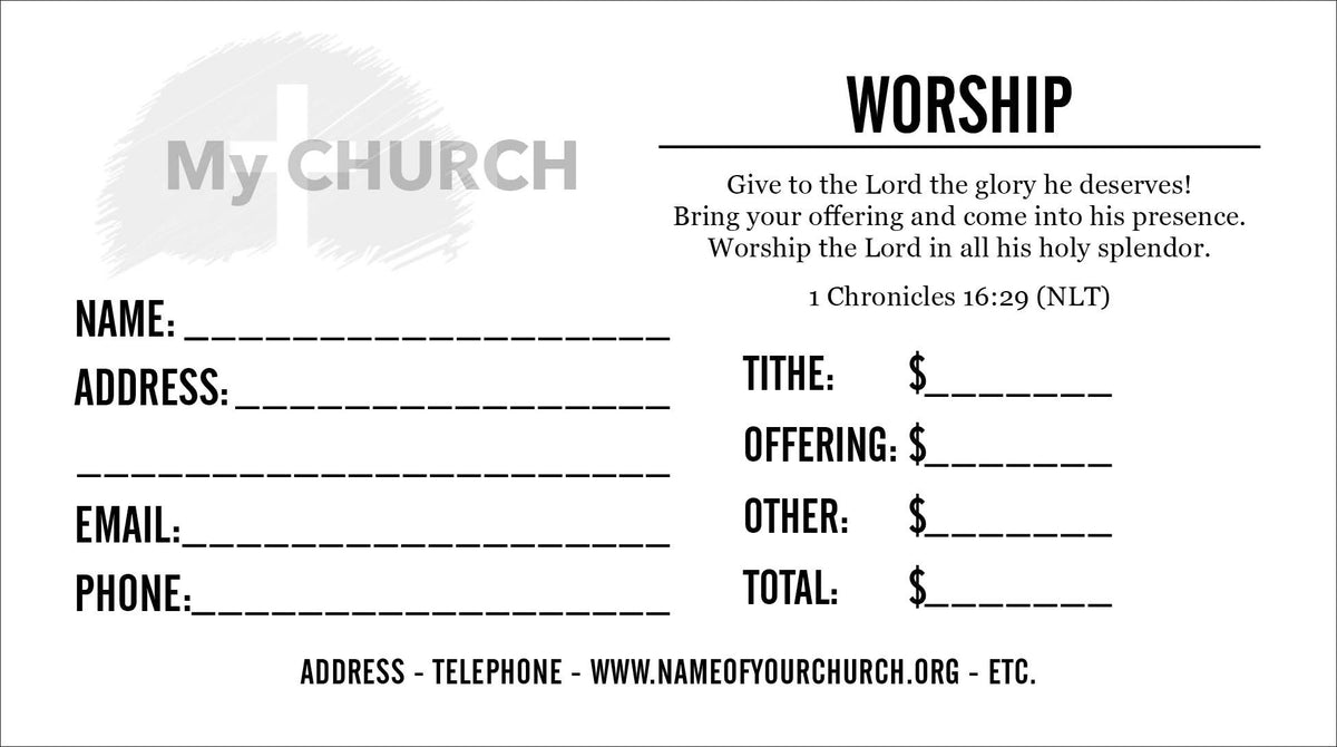 Tithe Envelope Template 06