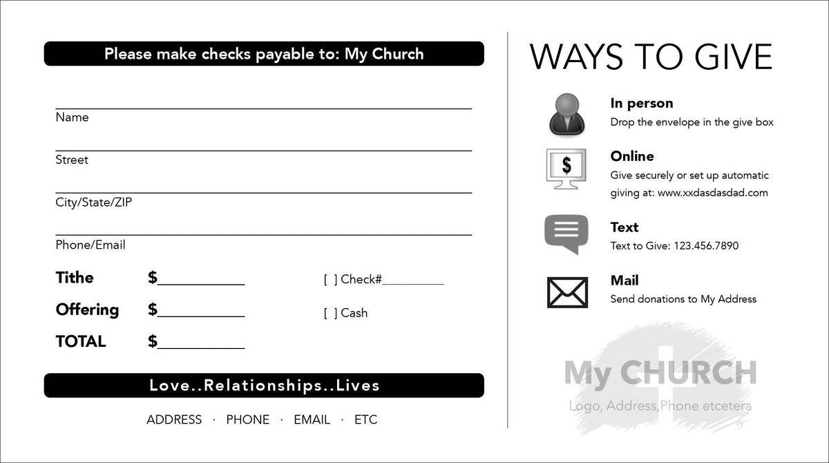 Tithe Envelope Template 07