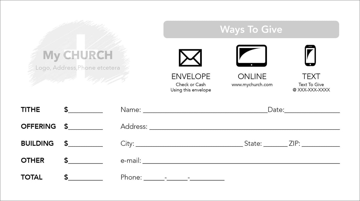 Tithe Envelope Template 08