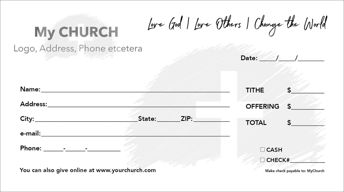 Tithe Envelope Template 09
