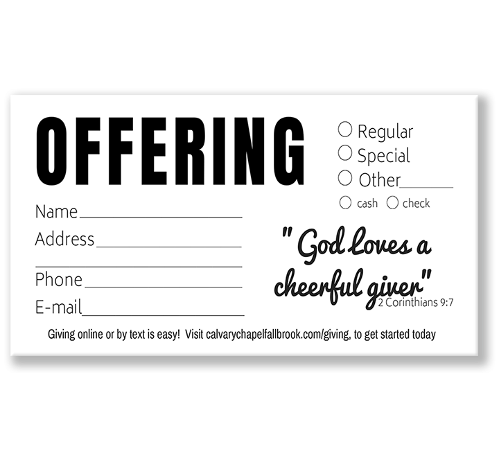 Custom Offering Envelopes Black and White
