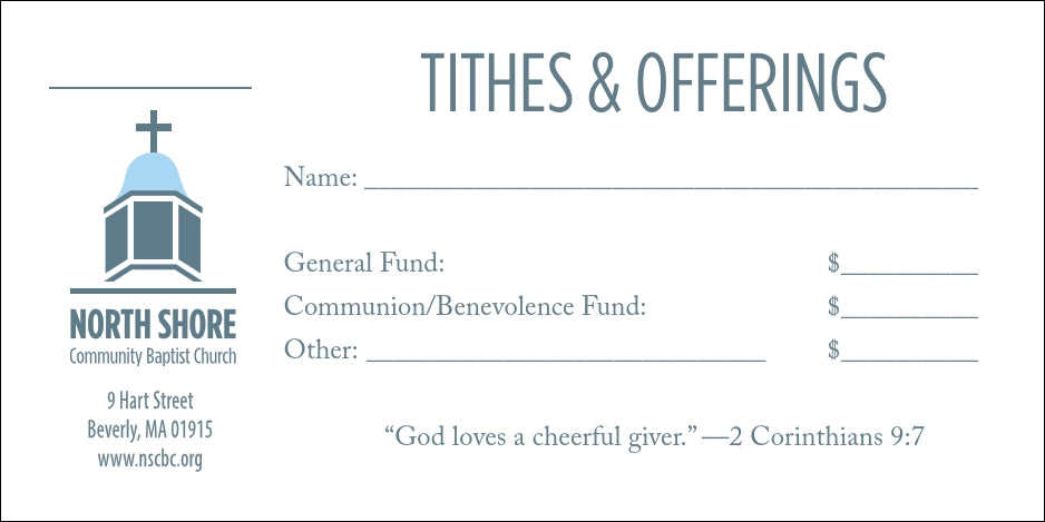 tithe envelopes