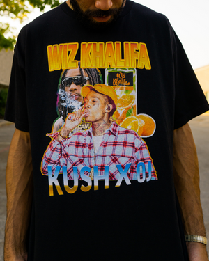 WIZ KHALIFA RAP TEE - BLACK