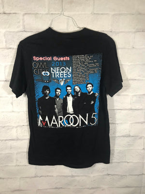 Maroon 5 2013 double graphic band tshirt SZ mens Medium