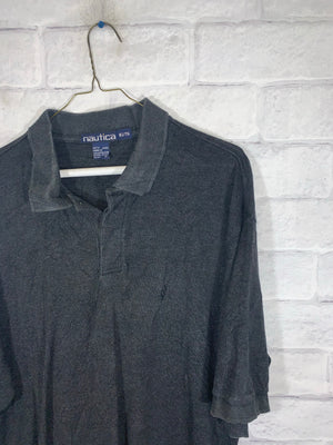 Vintage Nautica Quarter Button Golf Shirt