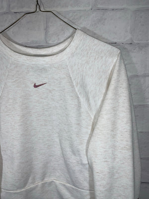 White Nike Longsleeve Sweater Crewneck