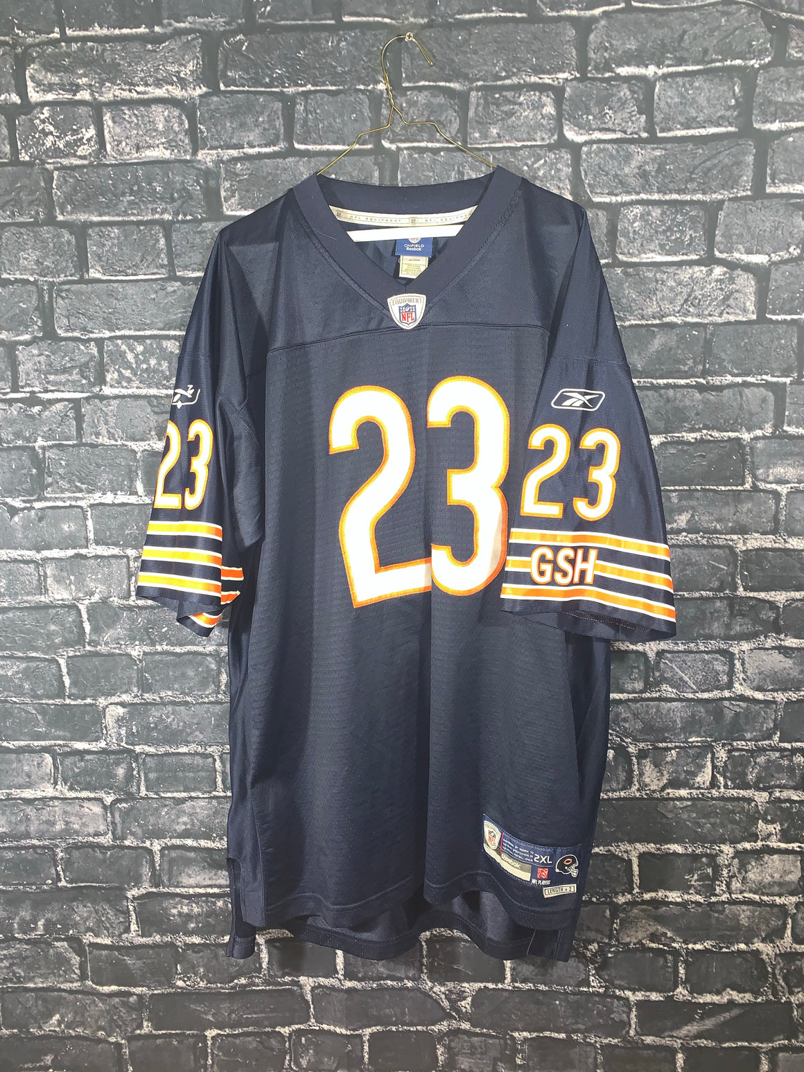 Blue Reebok Chicago Bears Sports Jersey