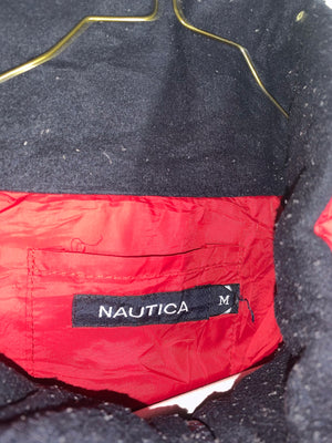 Nautica spellout fullzip light jacket SZ mens medium