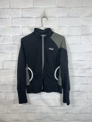 Vintage Black FILA Full Zip Light Jacket