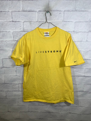 Yellow Nike Live Strong Graphic T-Shirt