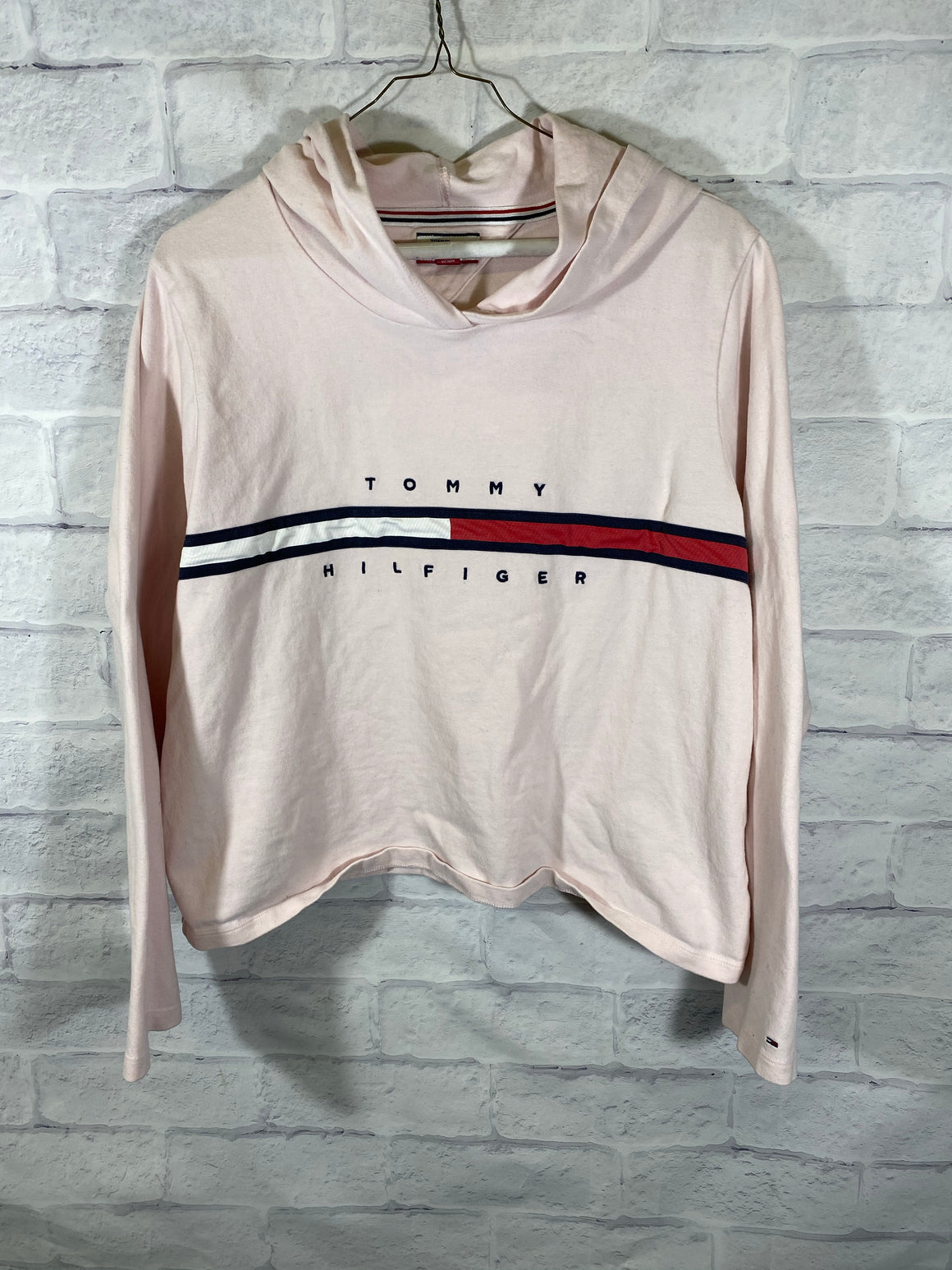 Tommy Hilfiger flag womens crop sweater