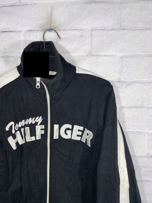 Tommy Hilfiger fullzip stitched track jacket SZ kids Large womens XS