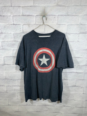 Grey Marvel Captain America Graphic T-Shirt