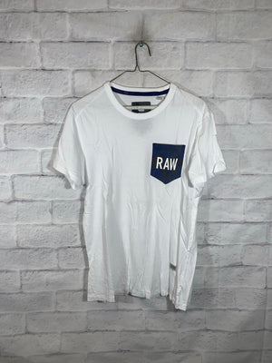 White G-Star Raw T-Shirt