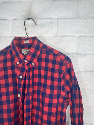 Red/Blue J.Crew Full Button Dress Shirt