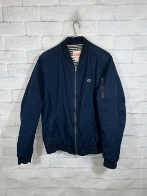 Blue Lacoste Live Full Zip Bomber Jacket