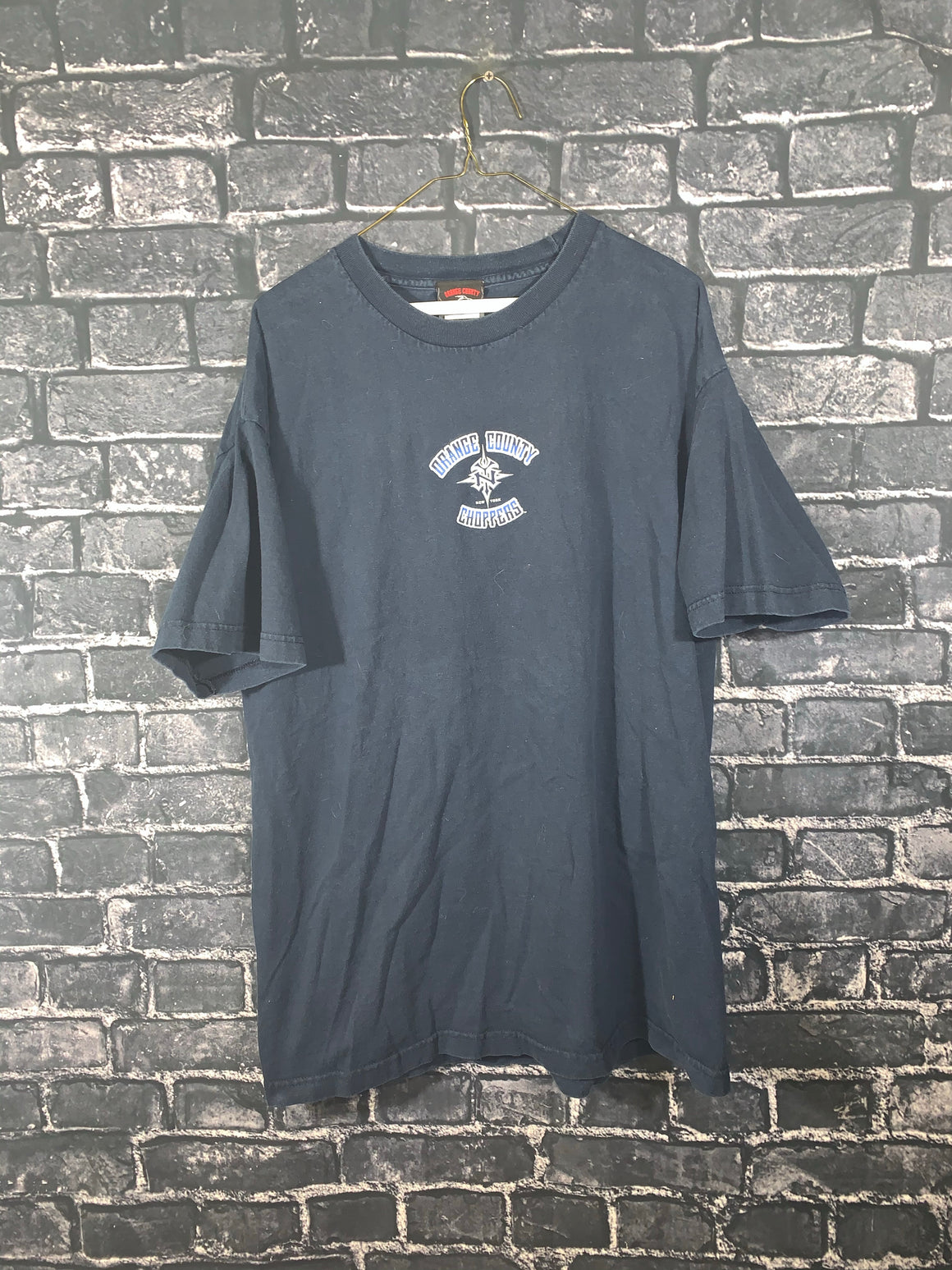 Navy Blue Orange County Choppers Graphic T-Shirt