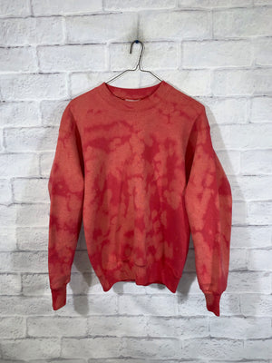 Lee's bleach tie dye sweater SZ womens medium