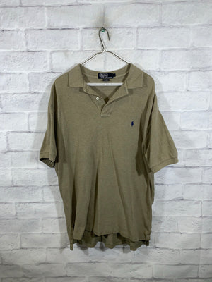 Light Brown Quarter Button Golf T-Shirt