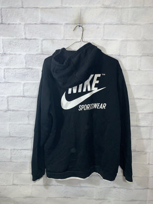 Nike Big logo track jacket SZ womens large