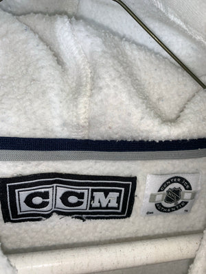 White CCM NHL Toronto Maple Leafs Longsleeve Sweater