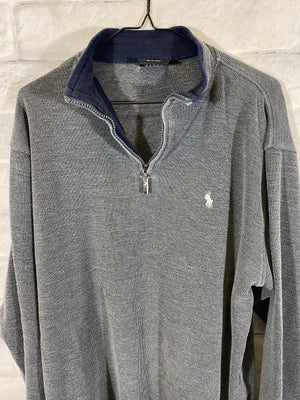 Polo Jeans co quarterzip sweater SZ mens XL