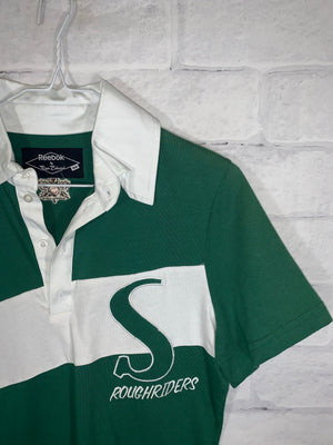 Vintage Reebok CFL Saskatchewan Riders Quarter Button Golf Shirt