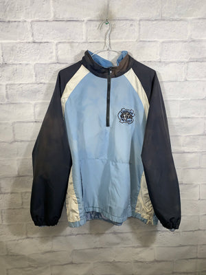 North Carolina Tie dye quarterzip windbreaker jacket