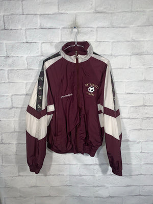 Vintage Burgundy Diadora Full Zip Light Jacket