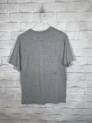 Vintage Grey Football Graphic T-Shirt