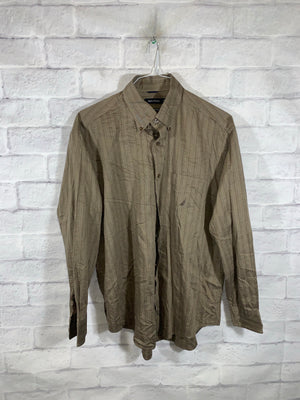 Brown Nautica Full Button Dress Shirt