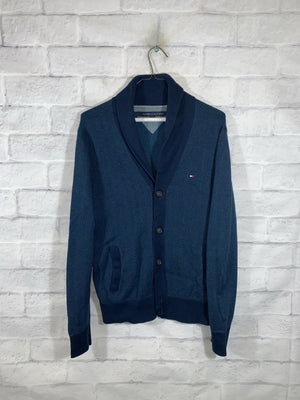 Blue Tommy Hilfiger Full Button Casual Sweater