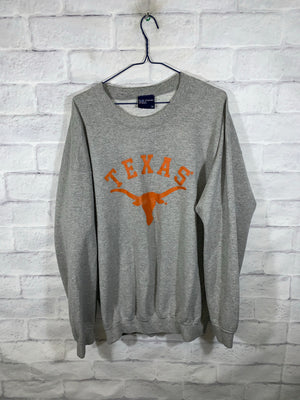 Grey University of Texas Longhorns Longsleeve Sweater