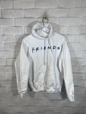 White Friends Longsleeve Sweater