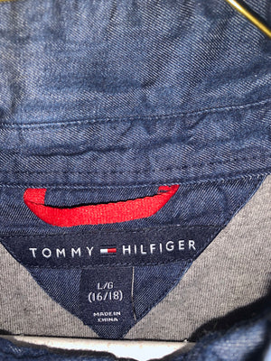 Tommy Hilfiger fullzip denim layered light jacket SZ womens Small