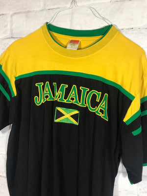 Jamaica Stitched resort tshirt SZ mens Large