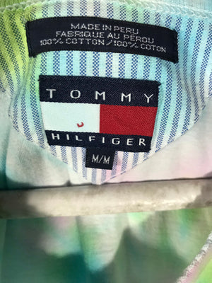Tommy Hilfiger 90's tag tie dis multicolour tshirt SZ mens medium