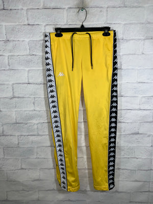 Yellow Kappa Full Button Sweatpants