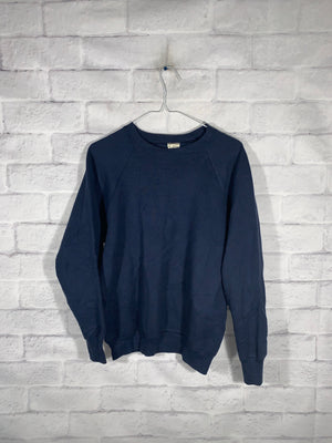 Vintage Navy Blue Fruit of Loom Longsleeve Sweater