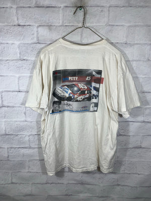 White Fruit of the Loom Kyle Petty Graphic Racing T-Shirt