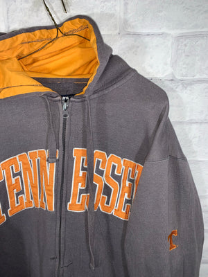 Brown University of Tennessee Full Zip Longsleeve Sweater