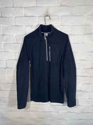 Vintage Blue Starter Quarter Zip Longsleeve Sweater