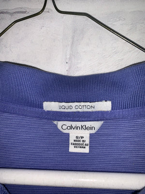 Vintage Blue Calvin Klein Quarter Button Dress Shirt