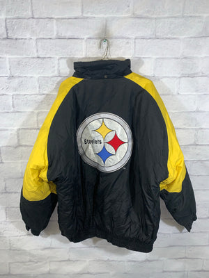 Logo 7 Pittsburgh Steelers NFL puffer jacket