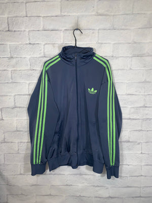 Vintage Blue/Green Adidas Full Zip Light Jacket