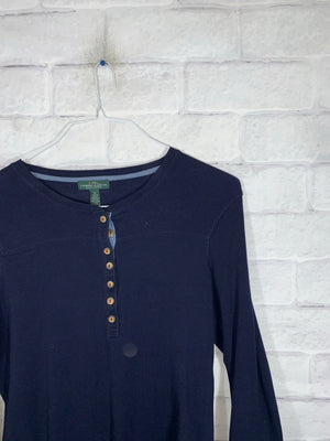 Vintage Blue Ralph Lauren Jeans Quarter Button Longsleeve Sweater
