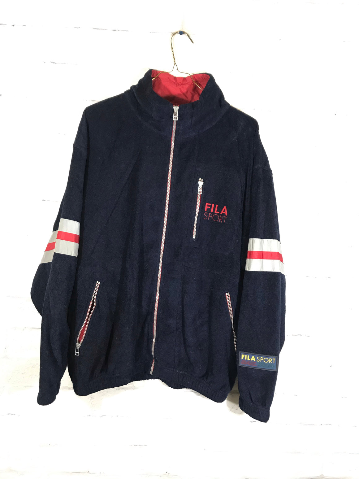Fila Sail tech fullzip track jacket SZ mens medium