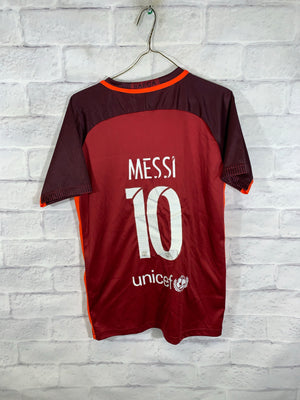 Burgundy Nike FC Barcelona Messi Sports Jersey