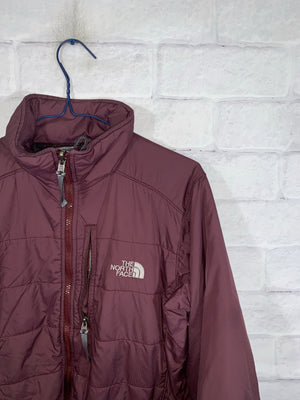 Vintage Burgundy North Face Full Zip Puffer Jacket